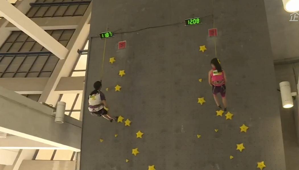 上海市第十六届运动会青少年组攀岩展示赛1