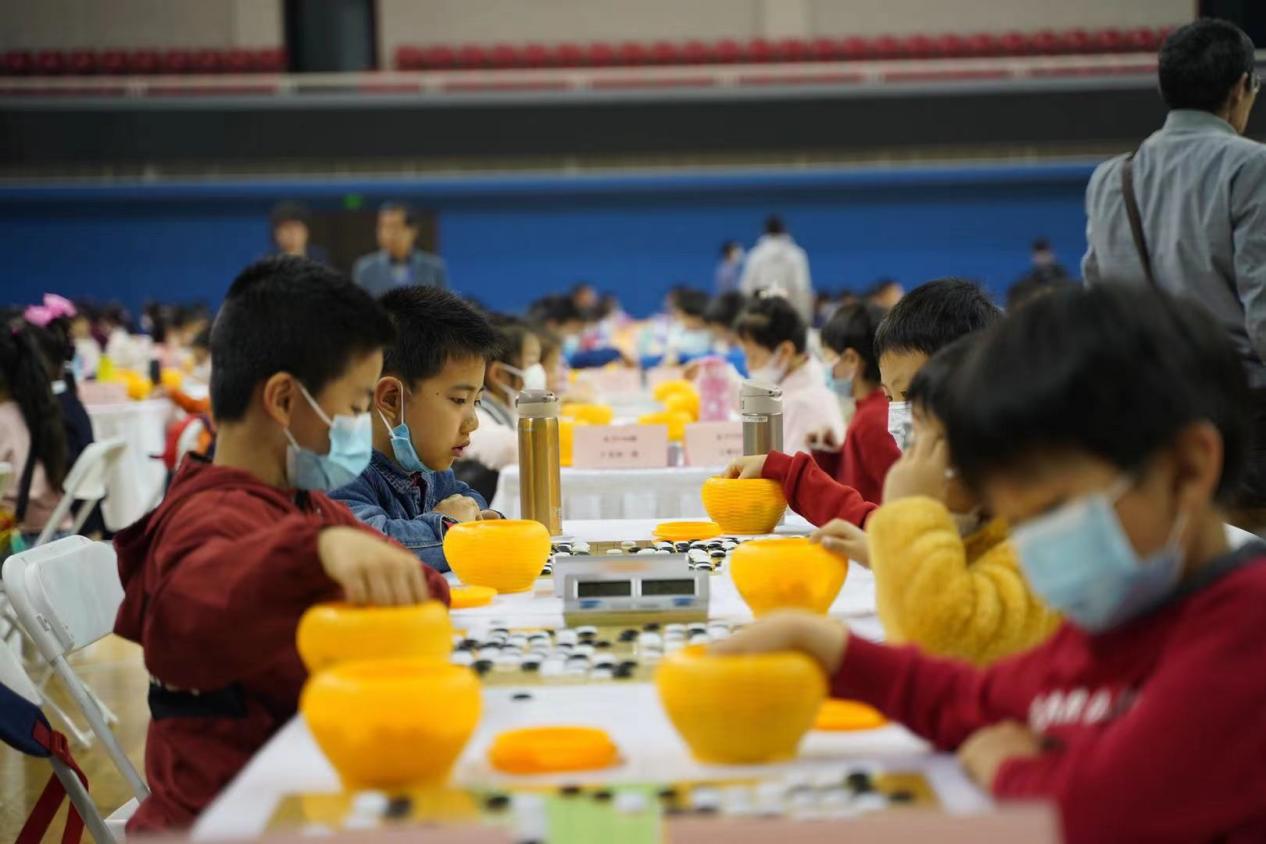 2021上海市青少年体育精英赛系列赛围棋比赛团体赛落子